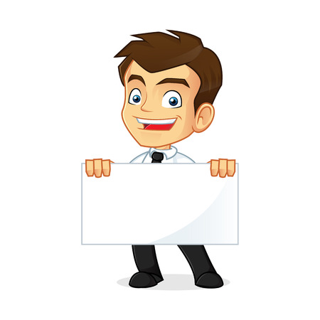 Cartoon illustration of a businessman