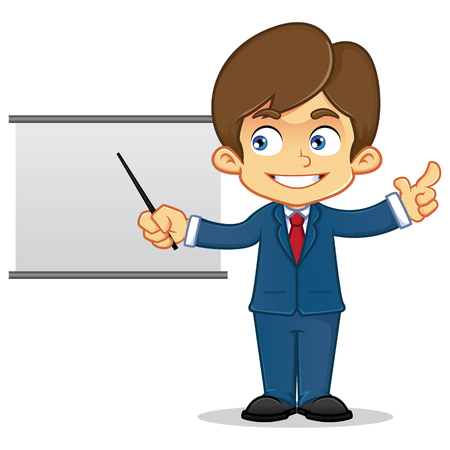 salesmen: Businessman Presenting With Whiteboard