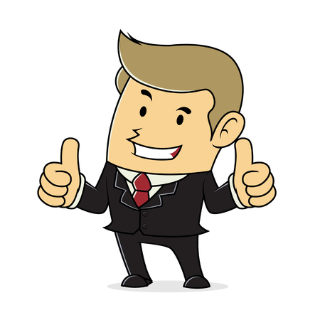 two thumbs up: Businessman Giving Two Thumbs Up