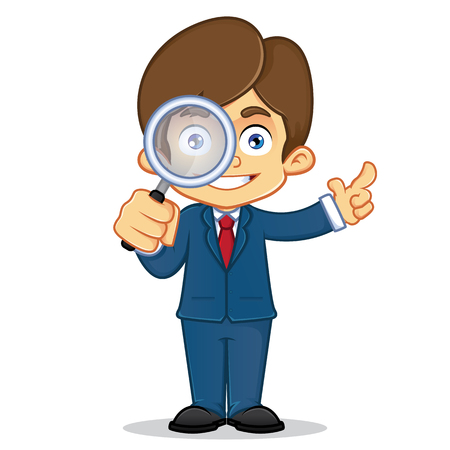 other keywords: Businessman Analyzing With Magnifying Glass
