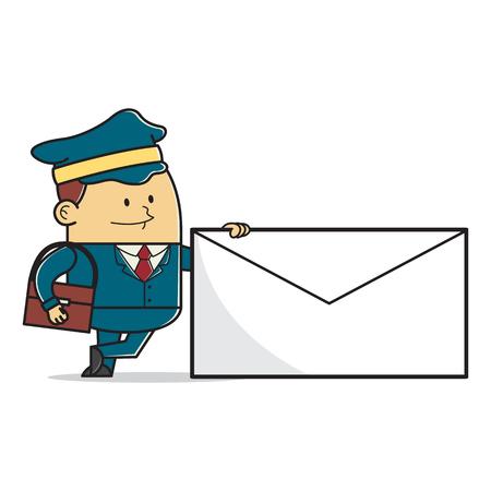 mailman: Mailman posting a letter