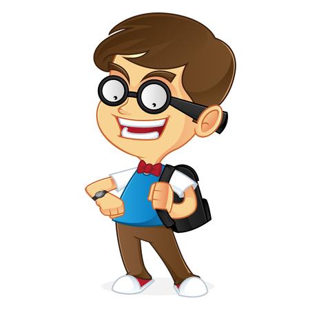 dork: Nerd boy ready to school