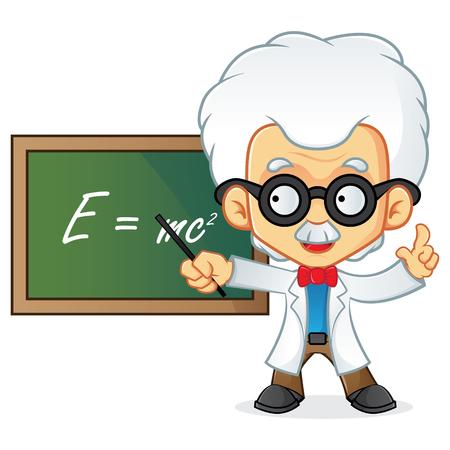 knowledge clipart: Professor teaching on blackboard