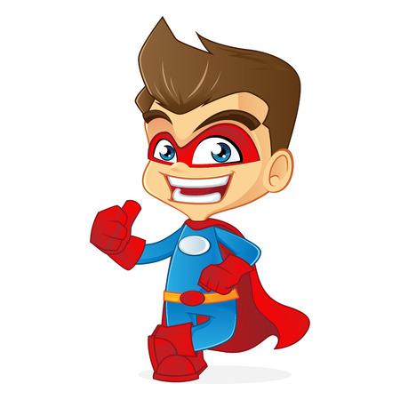 caricatura mosca: Superhero dando gustos Vectores