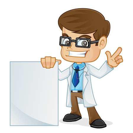 blanks: Doctor Holding a Blank Sign and Pointing