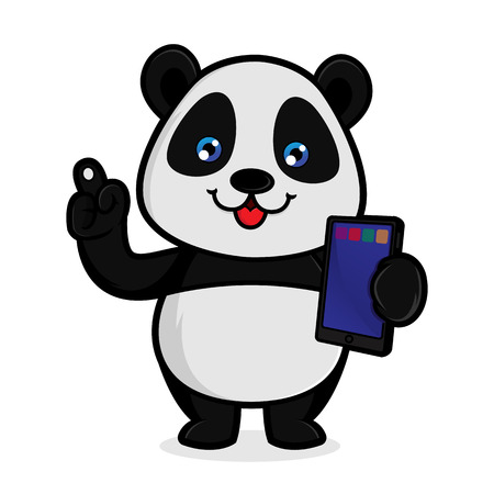 Panda hold computer tablet