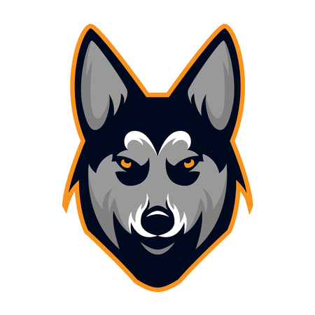 Husky Dog Head Team Mascot Logo. Available in vector format for unlimited file size and to easily change the color.
