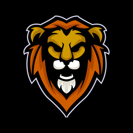 Lion logo mascot vector can be downloaded in vector format for unlimited image size and to easilly change colors Archivio Fotografico - 119508816