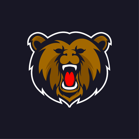 Bear logo mascot vector can be downloaded in vector format for unlimited image size and to easilly change colors Archivio Fotografico - 119887853