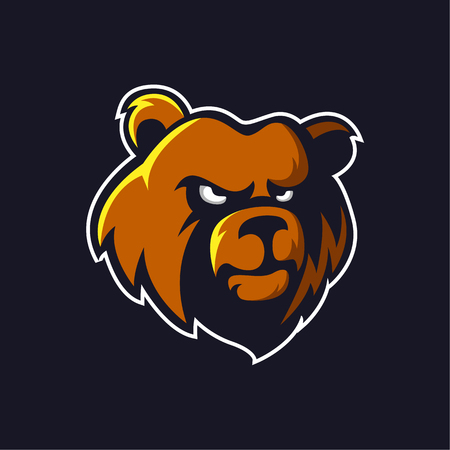 Bear logo mascot vector can be downloaded in vector format for unlimited image size and to easilly change colors Archivio Fotografico - 119887857