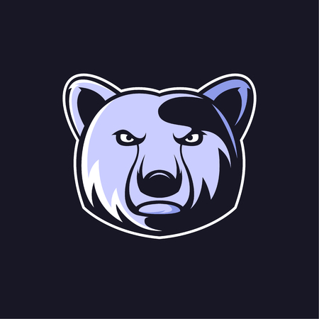 Bear logo mascot vector can be downloaded in vector format for unlimited image size and to easilly change colors Vettoriali
