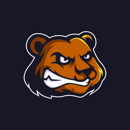 Bear logo mascot vector can be downloaded in vector format for unlimited image size and to easilly change colors Archivio Fotografico - 119887860