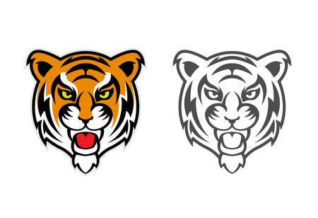Tiger Head Clipart Mascot Logo can be downloaded in vector format for unlimited image size and to easilly change colors