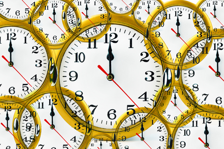 pm: Abstract clock showing 12:00 am or pm.