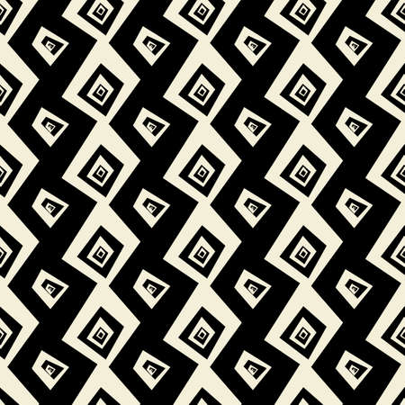 Seamless abstract doodle pattern vector texture  in black an white background