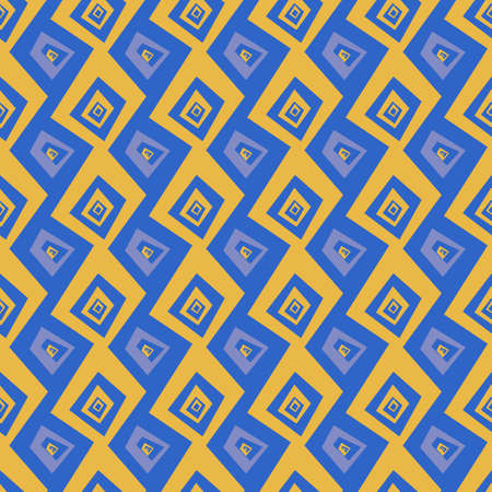 ethic: Seamless abstract vector pattern texture in yellow and purple background