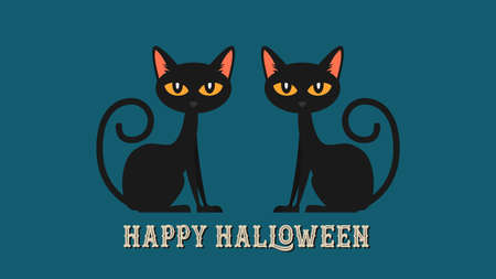 Happy halloween background with twin