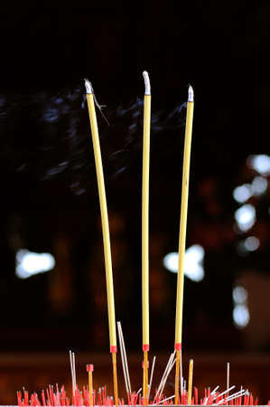 The joss stick on the canser at the joss house Stock Photo - 7224289