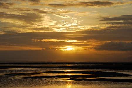 sunup: the scene of sunrise on the beach