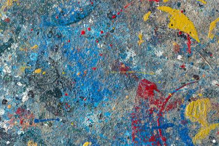 oilpaint: oilpaint splash on cement floor