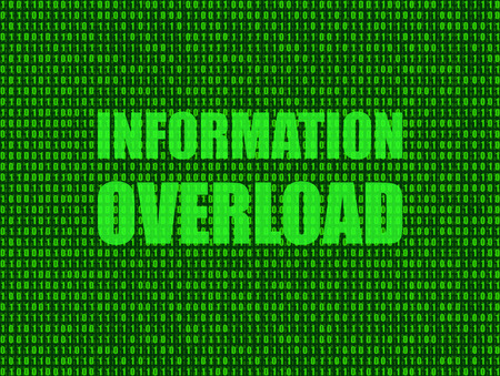 Vector: Information Overload Background, Technology Shining Illustration, Green Backdrop.