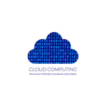 Vector Illustration: Data Cloud Icon, Cloud Computing, Technology Abstract Background. Illustration
