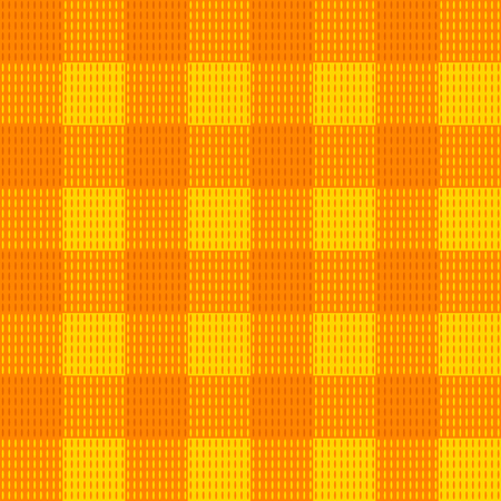 Vector Seamless Textule Texture Pattern, Endless Background Illustration, Orange Plaid Fabric.
