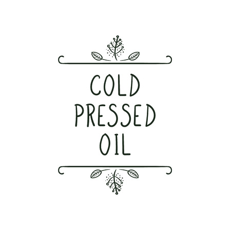 Vector Icon: Cold Pressed Oil, Black and White Illustration. Illustration