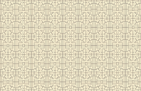 Vector Seamless Oriental Korean Pattern, Background Template, Traditional Geometric Ornament.