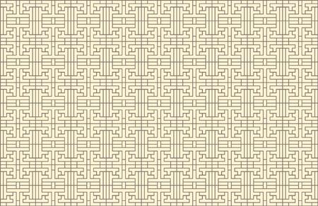 Motif coréen oriental sans soudure de vecteur, modèle de fond, ornement géométrique traditionnel.