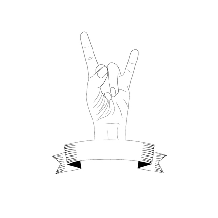 vector hard rock blank logo template hand and banner vintage
