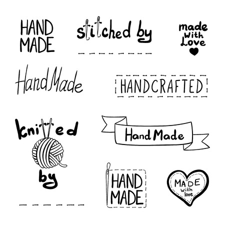 Vector conjunto de elementos de diseño dibujado, tema hecho a mano, iconos lineales negros aislados sobre fondo blanco. Ilustración de vector