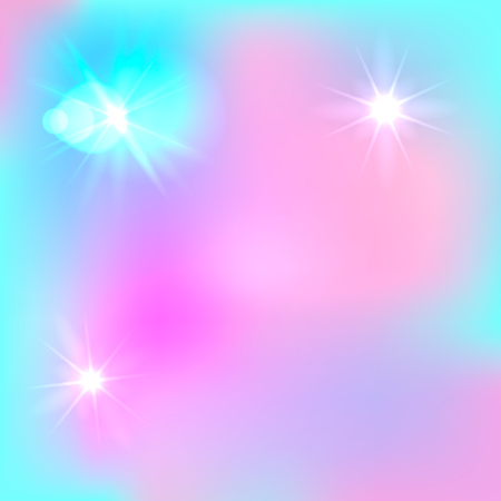 Vector Magic Farytale Background, Cute Backdrop, Light Blue and Pink Shining Colors. Illustration