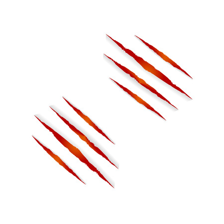 Vector Clows Marks Isolated on White Background, Halloween Red and Orange Colorful Design Element, Fire. Ilustrace