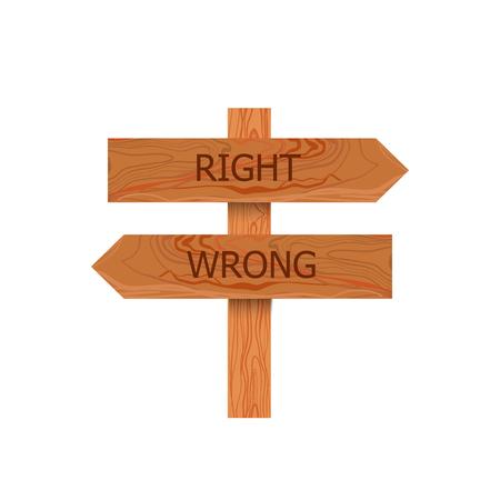 Vector keuze wegwijzer illustratie, pictogram geïsoleerd op een witte achtergrond.