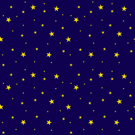 Vector Seamless Pattern: Starry Sky, Bright Colors, Shiny Stars.  イラスト・ベクター素材