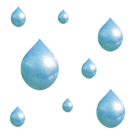 Vector Rain Pattern, Falling Droplets, Autumn Background. Illustration
