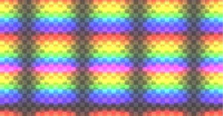 Vector Seamles Rainbow Pattern, Glowing Lights, Abstract Background. Illustration