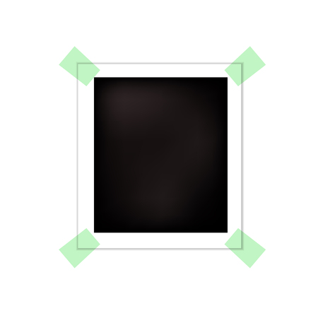 Vector Photo Frame, Blank Template, Isolated on White Background Card. Standard-Bild - 110254041