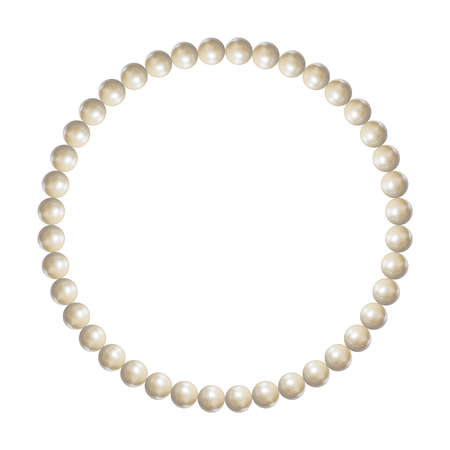 Vector White Pearl Bracelet, Isolated Jewelry Object, Realistic 3D Illustration. Vectores