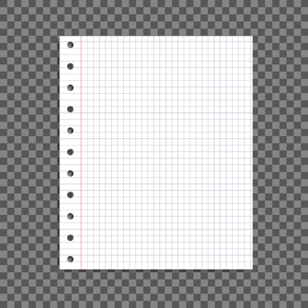 Vector Paper Sheet Isolated on Dark Transparent Background with Shadow, Design Element Blank Template. Foto de archivo - 114888318