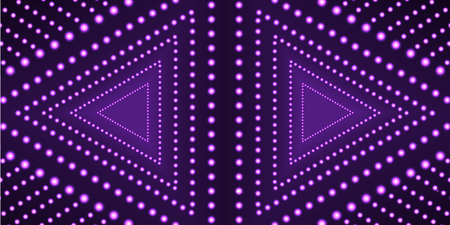 Vector Ultraviolet Triangles Background Template, Neon Geometric Shape, Technology Web Backdrop. Ilustração