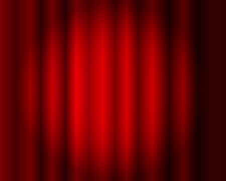 Vector Red Curtains Background, Stage Illusmination, Abstract Spotlight, Theater.