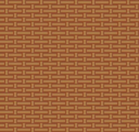 Vector Seamless Pattern, Straw Binding Background, Brown Color, Illustration Template, Wicker Texture.