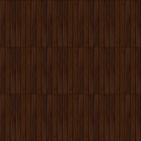 Vector Seamless Pattern, Dark Brown Wooden Background Template, Colorful Illustration. Illustration