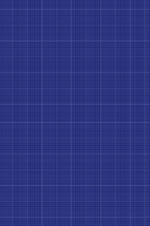 Vector Blueprint Background, Linear Paper Template, Blue Color Backdrop, Technical Drawing Background.