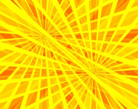 Vector colorful background, sun beams abstract illustration, light, yellow, orange and red colors, graphic backdrop. Иллюстрация