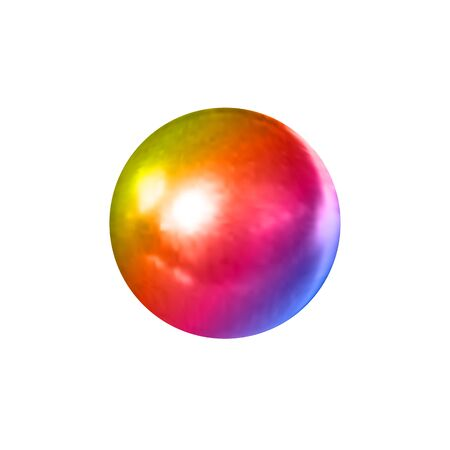 Vector gradient colorful 3D ball isolated on white background, decoration template, multicolored pearl, gradient color.