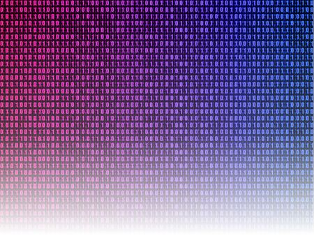 Vector gradient binary code background, colorful illustration, technology concept, abstract security data.