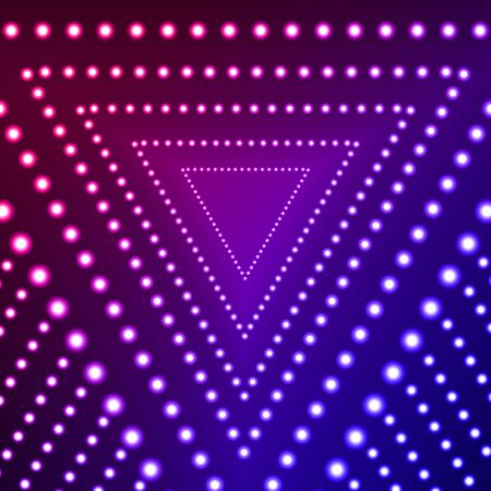 Vector Triangle Gradient Blue and Pink Ultraviolet Shine Background, Glowing Circles, Abstract Lights on Dark Backdrop. 일러스트